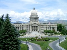pictures of boise id | Boise, ID : Boise, Idaho: The State Capitol, viewed from a rooftop ...