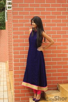 Navy and red. simple but elegant.