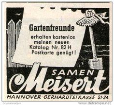 Original-Werbung/ Anzeige 1957 - SAMEN MEISERT HANNOVER - ca. 45 x 40 mm