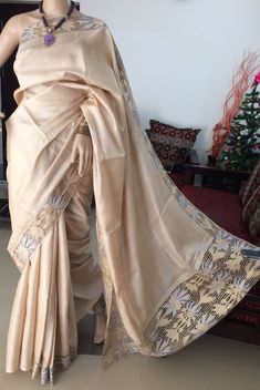 Hand work sarees..Whatsapp on 9496803123 for details and customisation..we do all types of handembroidery, appliqué work, cutwork, maggam work, bridal wear etc