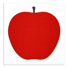 "Holiday Gift Guide 2011:  Start your day healthy with ""La Mela"" or ""The Apple""! Super graphic styled mod Red Apple screenprint designed by Enzo Mari in 1963 for Danese Milano, Italy . A classic in the history of Modern Design! From Enzo Mari's nature series."