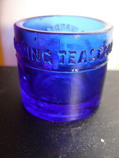 Cobalt Blue glass Medicine Dosing Cup