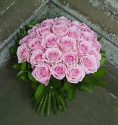 Beautiful wedding bouquet of pink roses