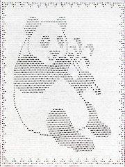 Baby & Kids Crochet Blankets - Panda Filet Crochet Afghan
