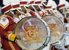 Tuskegee University Marching Band performs at the Turkey Day Classic