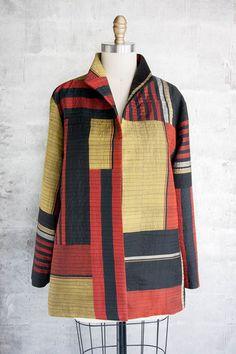 Asiatica Sew Your Own Clothes, Altering Clothes, Line Design Pattern, Plus Size Sewing, Kimono Design, Textiles, Textile Patterns, Kimono Fabric, Couture Details