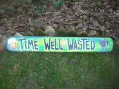 Time Well Wasted Tropical Tiki Hut Bar Pool Patio Beach Sign Plaque | eBay