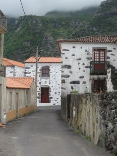 Flores: A typical village street scene