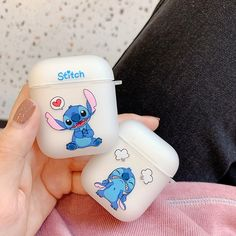 Cute case for airpods with Stitch and Pokemon Cute Cases, Cute Phone Cases, Iphone Cases, Iphone Accessories, Bag Accessories, Accessoires Iphone, Airpod Case, Air Pods, Lilo And Stitch