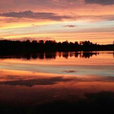 Sunset over Cowboy Lake, Kingsford MI - photohraphed by Allen Linn