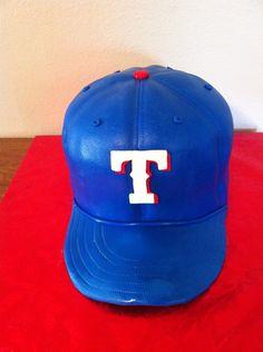 Texas Rangers Baseball Cap Cake