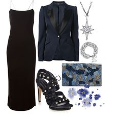 Midnight Blue by ellary-branden on Polyvore featuring polyvore, fashion, style, T By Alexander Wang, Alexander McQueen, Rebecca Minkoff, Alice + Olivia, Sole Society and CZ by Kenneth Jay Lane