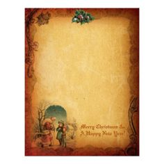 Vintage #Christmas #Letter Paper from Zazzle