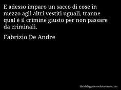 Cartolina con aforisma di Fabrizio De Andre (72)