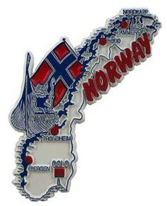 Norway country shaped magnetic map