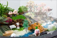 DIY een miniatuur tuin maken, een uitleg hoe je een mini tuintje maakt, ook wel fairy garden genoemd.