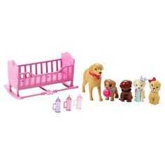 Barbie Chelsea and Puppy Cradle Playset