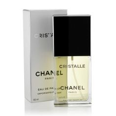 """Cristalle"" by Chanel (1974). Perfume notes include bergamot, hyacinth, oak moss, rosewood, sicilian lemon, & vetiver."