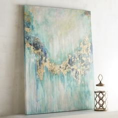 Teal Visions Abstract Art | Pier 1 Imports