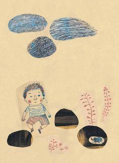 La Roca - Jorge Luján y Chiara Carrer Rain Illustration, Illustrations, Graphic Illustration, Collage Drawing, Graduation Project, Bookbinding, Childrens Books, Animation, My Favorite Things