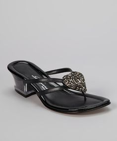 Take a look at this Black Desire Sandal by Dezario on #zulily today!