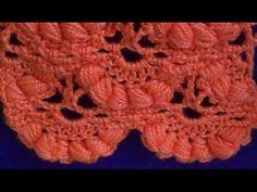 """♥ Узор крючком для шали """"Гроздья Рябины"""" • Crochet stitch """"The bunch of rowan"""" - YouTube"""