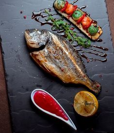 Discover recipes, home ideas, style inspiration and other ideas to try. Fish Recipes, Seafood Recipes, Gourmet Recipes, Cooking Recipes, Gourmet Foods, Gourmet Desserts, Plated Desserts, Food Decoration, Creative Food
