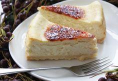 Brûléed (or not) Eggnog Cheesecake
