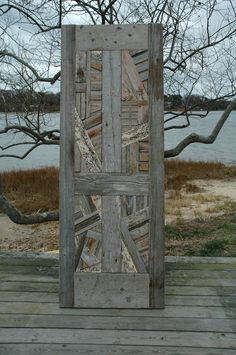 Driftwood door....