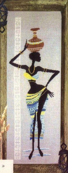 GRAFICOS PUNTO DE CRUZ GRATIS : AFRICANAS(24)