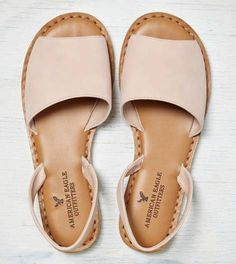 Wide Strap Slingback Sandal
