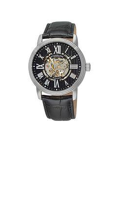 STUHRLING ORIGINAL 1077.33151(ブラック)  バイヤーとして色々な時計を見てきましたが、この時計はシースルーのかっこよさ、エレガントさ、そしてクラシックな雰囲気すべてつまっている逸品です。