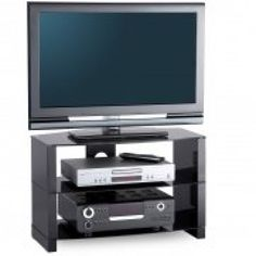 DB710/3-BLK TV Stand in Black Gloss For 37