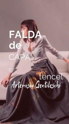 Falda campana tela vaquera fina.   Falda campana, Faldas, Blusas