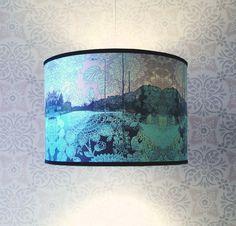 New Medium Size Lampshade - Pale Blue Suburban Dream.. £88.00, via Etsy House of Chintz