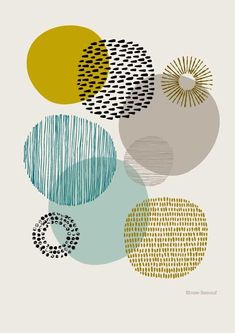 Sort Of Circles Open Edition Giclee Print Etsy - Sort Of Circles Is A Print Based On My Textural Drawings Of Circular Shapes The Emphasis Is Very Much On Colour And Pattern And Their Relationships To Each Other Colours Used In This Print Include Art And Illustration, Poster Pictures, Wall Pictures, Grafik Design, Textures Patterns, Prints And Patterns, Printmaking, Canvas Wall Art, Abstract Art