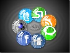 Imagery Investigation: Some totally cool-looking orb social media icons. Only has Facebook, Twitter, and RSS though.