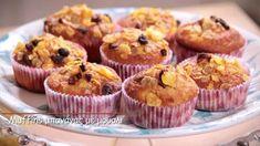 Muffins μπανάνας με μούσλι (σχολικό κολατσιό)- video Muffins, School Snacks, Tea Time, Banana, Sweets, Breakfast, Food, Youtube, Greek