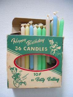 Vintage birthday candles