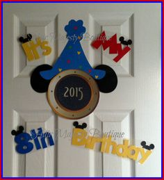 Birthday Hat and Ears Magnet Set For Cruise by HairMajestyBoutique