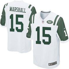 NFL New York Jets Brandon Marshall Youth Game White #15 Jerseys