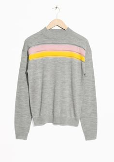 & Other Stories | Colour Block Merino Wool Sweater