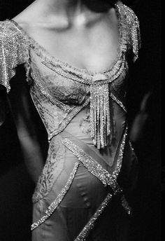 Art deco vintage beaded wedding gown
