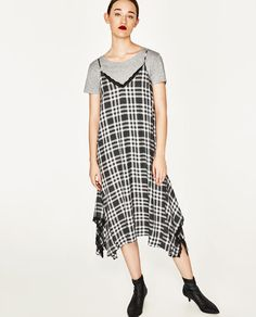 ZARA - WOMAN - CHECK CAMISOLE DRESS
