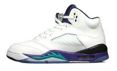 b1425e132dc1 Authentic Air Jordan V Retro White purple grapes