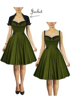 Rockabilly, retro dress set