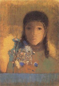 Lady with Wildflowers, Odilon Redon