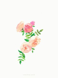 Watercolor flower -somethingpeach.com
