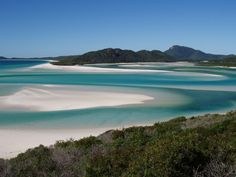 Whitehaven Beach on Whitsunday Island off the Eastern coast of Australia is said to be the whitest beach in the world.
