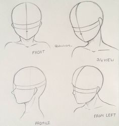 How to draw different head poses Maybe this tutorial helps a bit #manga #anime #doodle #illustration #mangadraw #animedraw #mangadrawing #animedrawing #mangaka #mangaart #animeart